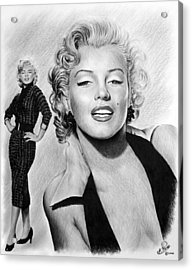 The Glamour Days Marilyn Monroe Acrylic Print by Andrew Read