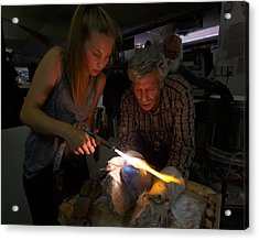 The Glass Blowers Acrylic Print by Paul Indigo