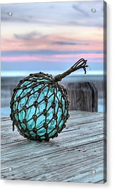 The Glass Fishing Float Acrylic Print by JC Findley
