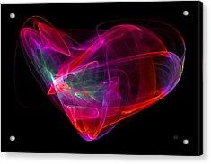 Acrylic Print featuring the digital art The Glass Heart by Menega Sabidussi