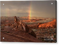The Glory Of Sandstone Acrylic Print by Bob Christopher