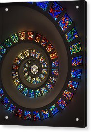 The Glory Window In Thanks-giving-square Dallas Acrylic Print by Mountain Dreams