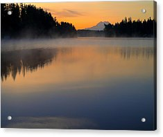 The Glow At Dawn Acrylic Print by Peter Mooyman
