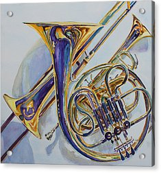 The Glow Of Brass Acrylic Print