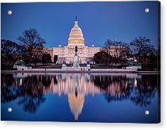 The Glow Of The Capitol Acrylic Print