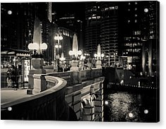 The Glow Over The River Acrylic Print by Melinda Ledsome
