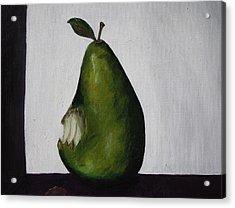 The Gmo Pear Acrylic Print by Alicia Lockwood