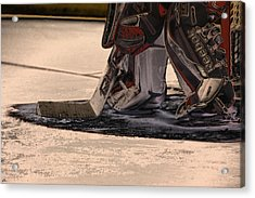 The Goalies Crease Acrylic Print