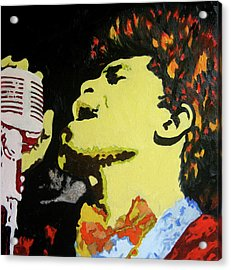 The God Father Of Soul James Brown Acrylic Print by Ronald Young