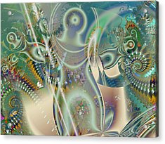 The Goddess Acrylic Print by Mary Almond