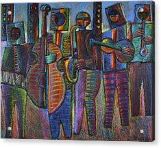 The Gods Of Music Come To New York Acrylic Print by Gerry High