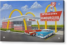 The Golden Age Of The Golden Arches Acrylic Print by Jerry McElroy