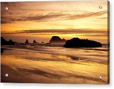 The Golden Coast Acrylic Print by Darren  White