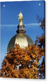 The Golden Dome Of Notre Dame Acrylic Print