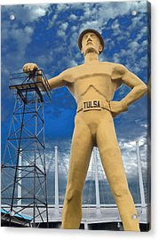 The Golden Driller - Tulsa Oklahoma Acrylic Print