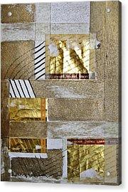 The Golden Fields Acrylic Print by Shirley Devon