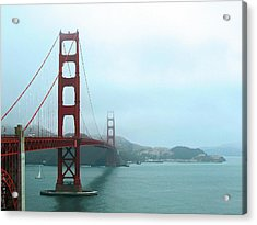 The Golden Gate Bridge And San Francisco Bay Acrylic Print by Connie Fox