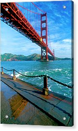 The Golden Gate Bridge And The Entrance Acrylic Print
