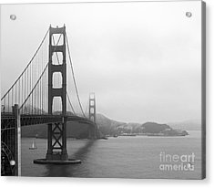 The Golden Gate Bridge In Classic B W Acrylic Print