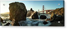 The Golden Gate Bridge Acrylic Print by Michael Kaupp