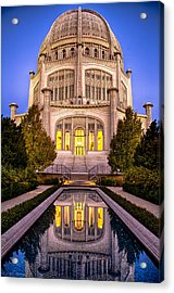 The Golden Jewel - Baha'i Temple  Acrylic Print