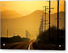 Acrylic Print featuring the photograph The Golden Road by Matt Harang