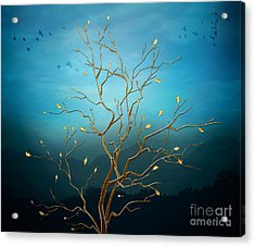 The Golden Tree Acrylic Print by Peter Awax