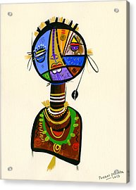 The Good Face Of Colours, 2013 Mixed Media On Card Acrylic Print