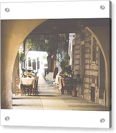 The Good Life  #italy #summer #dine Acrylic Print by A Rey
