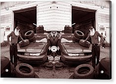 The Good Old Boy Twin's Garage Acrylic Print by Ron Haist