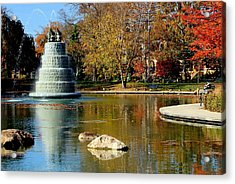 The Goodale Park  Fountain Acrylic Print