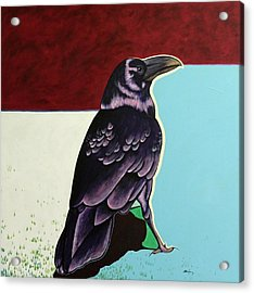The Gossip - Raven Acrylic Print by Joe  Triano