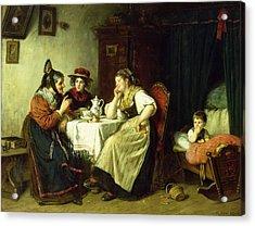 The Gossips, 1887 Oil On Canvas Acrylic Print