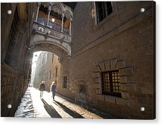 The Gothic Barcelona Acrylic Print by Javier Fores