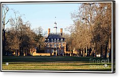 The Governor's Palace Acrylic Print