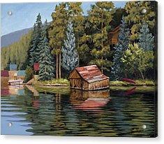 The Grand Boathouse II Acrylic Print