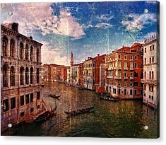 The Grand Canal Venice Italy Acrylic Print by Suzanne Powers