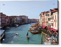 The Grand Canal Venice Oil Effect Acrylic Print