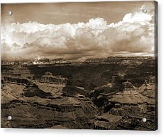 The Grand Canon In Arizona Across From Bright Angel Hotel Acrylic Print by Litz Collection