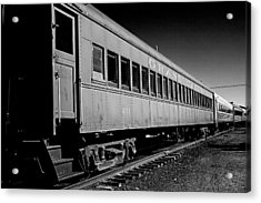 The Grand Canyon Express 1 Black And White Acrylic Print