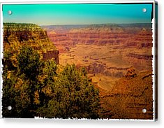 The Grand Canyon Vintage Americana Vii Acrylic Print by David Patterson