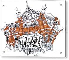 The Grand Opera House Belfast Acrylic Print by Tanya Mai Johnston
