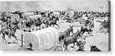The Grand Rush At Noon Of 16th September Looking East Along The South Line Of Indian School Acrylic Print