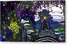 The Grape Arbor Medusa Acrylic Print by Constance Krejci