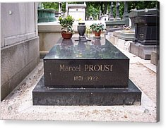 The Grave Of Marcel Proust In Paris France Acrylic Print