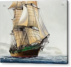 The Great Age Of Sail Acrylic Print by James Williamson