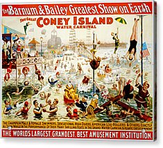 The Great Coney Island Water Carnival Acrylic Print by Georgia Fowler