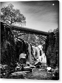 The Great Falls Of Paterson In Black And White Acrylic Print