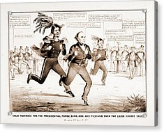 The Great Footrace For The Presidential Purse 100 Acrylic Print