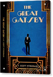 The Great Gatsby Book Cover Movie Poster Art 4 Acrylic Print by Nishanth Gopinathan